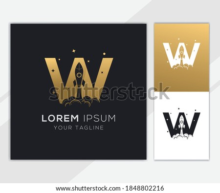 alphabet initial logo sign logotype space rocket vector Stock photo © vector1st