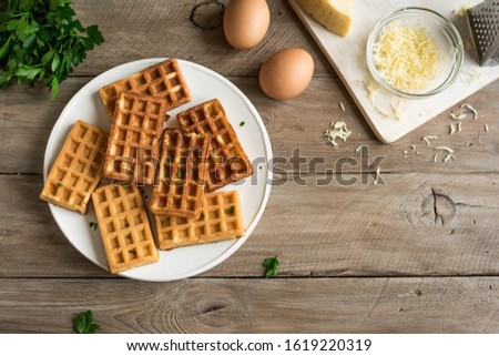 Stockfoto: Ingredient For Cooking Cheese Waffle