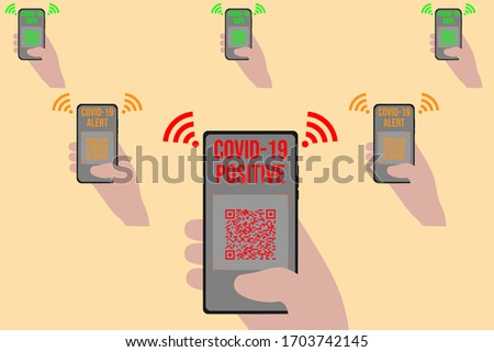 Smartphone Risk Of Contagion Stock photo © limbi007