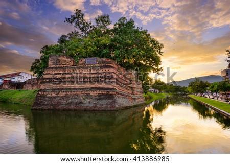 Chiang Mai city wall Stock photo © timbrk