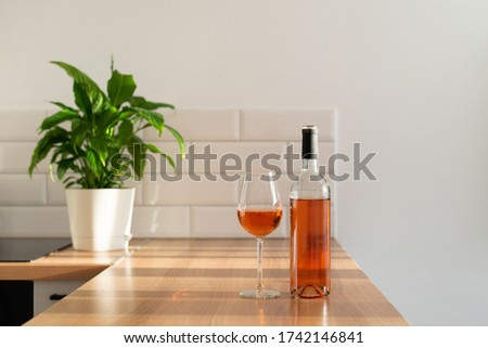 rose and cup on the table Stock photo © cherju