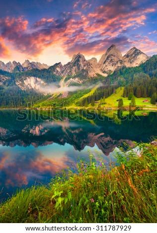 outono · caminhadas · alpes · europa · verão · viajar - foto stock © haraldmuc