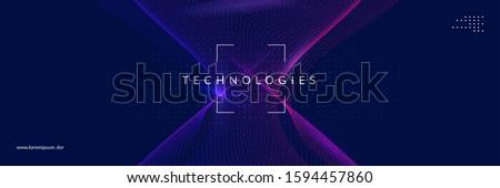 Geometrik teknoloji örnek vektör soyut iş Stok fotoğraf © auimeesri