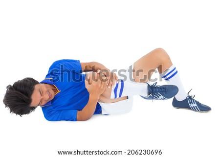 Mavi yaralı beyaz adam spor Stok fotoğraf © wavebreak_media