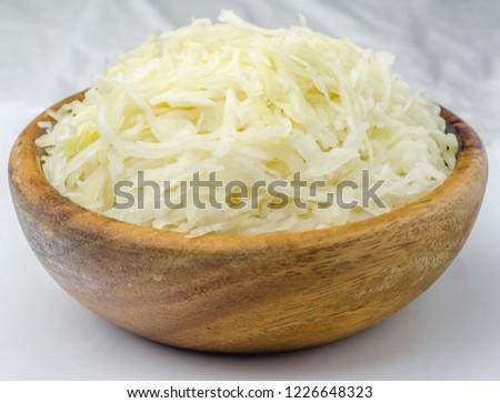 Tál savanyú káposzta szeletek disznóhús kövér stúdió Stock fotó © Digifoodstock