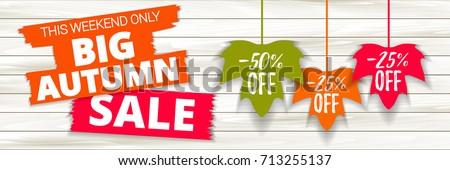 Outono sazonal venda etiqueta eps 10 Foto stock © beholdereye