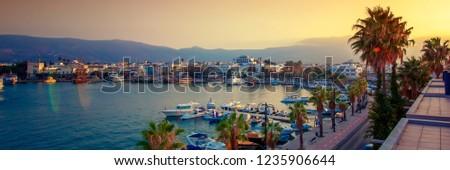 Kos harbour Stock photo © luissantos84
