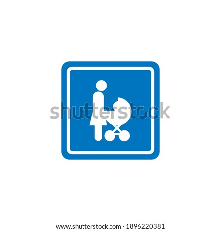 Female symbol on a black and white background. Isolated science icon Stock photo © Imaagio