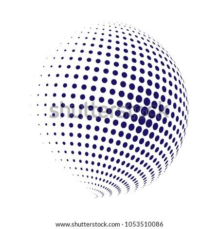 Medios tonos esfera aislado blanco mundo patrón Foto stock © ShustrikS
