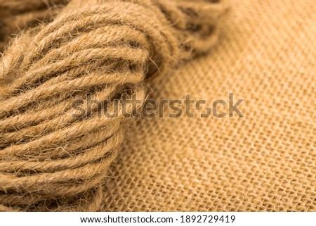 old brown golden rough rope macro detail stock photo © lunamarina
