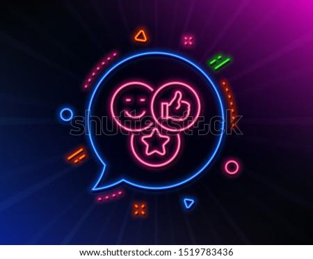 social media neon color speech bubbles Stock photo © burakowski