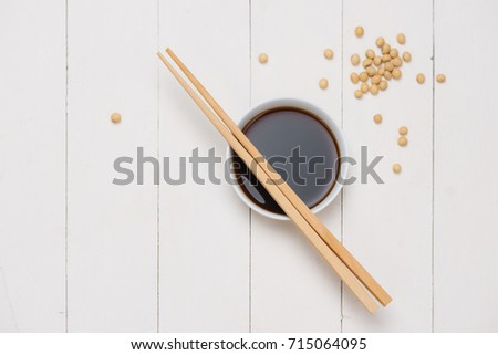 soybeans on wooden background Stock photo © joannawnuk