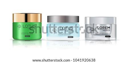 Cosmetische container room poeder gel glas Stockfoto © netkov1