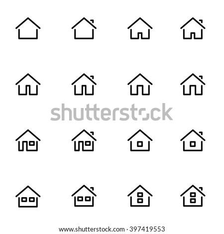 huis · vierkante · vector · violet · icon - stockfoto © bluering