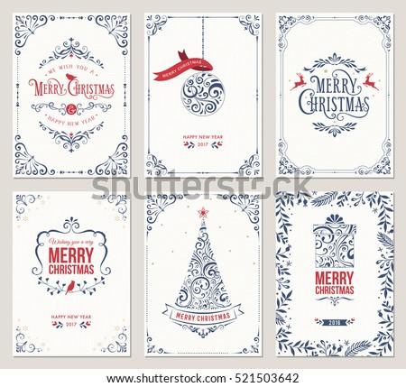 retro · natal · projeto · inverno · flocos · de · neve - foto stock © fresh_5265954