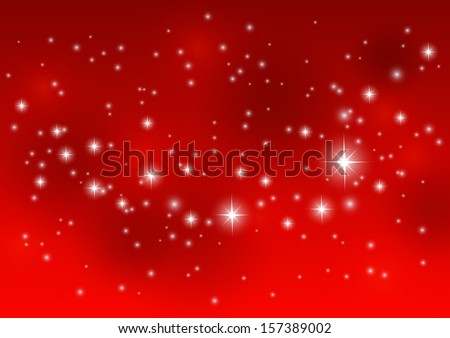 elegant red merry christmas background with bokeh effect stock photo © sarts