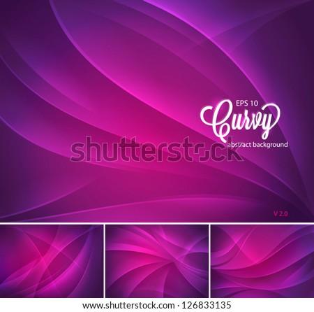 Abstrato vetor roxo ondulado linhas folheto Foto stock © fresh_5265954