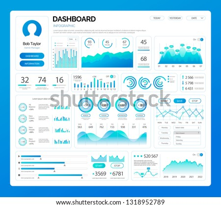 Infographic Visual Representation of Data Chart Stock photo © robuart