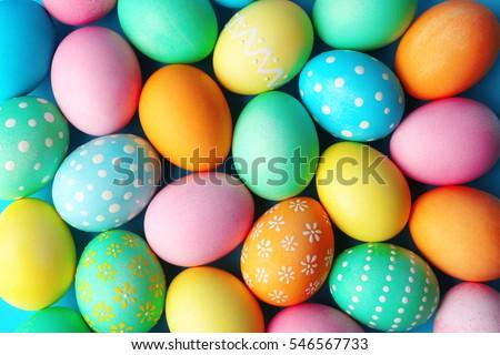 Colorido ovos de páscoa origami papel tabela decorações Foto stock © AGfoto