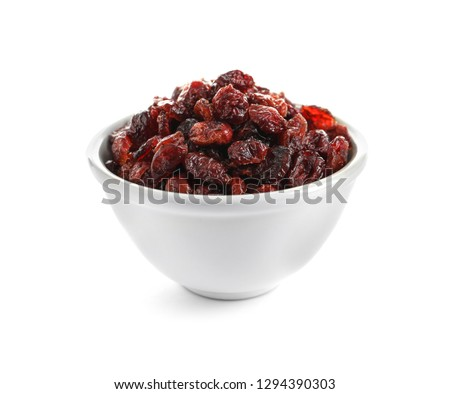 Ceramic bowl of Cranberry on white background Stock photo © joannawnuk