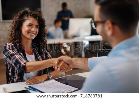 Boss Interviewing Women Stock photo © AndreyPopov