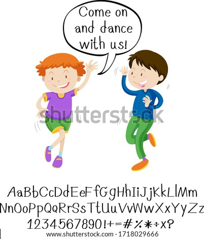 English phrase with people in actions on white background Stock photo © bluering