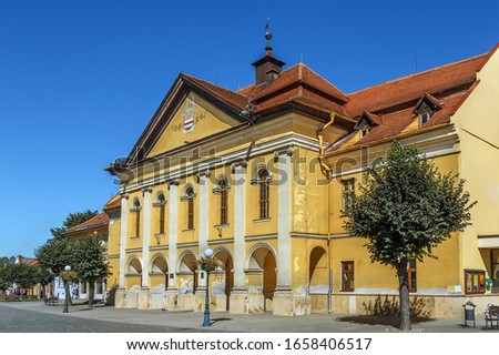 Straat Slowakije historisch huizen oude binnenstad huis Stockfoto © borisb17
