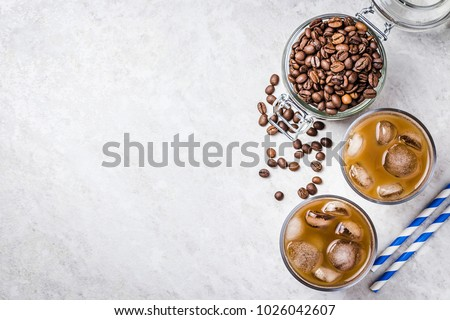 Cold brew coffee with ice and milk Stock photo © furmanphoto