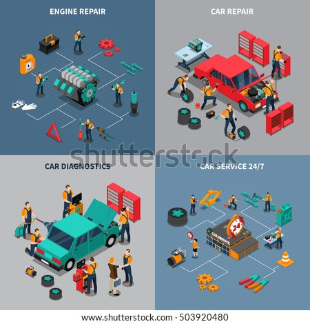 Onderhoud monteur werken auto motor Stockfoto © grafvision