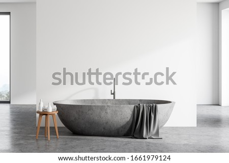 bathtub at home stock photo © hofmeester