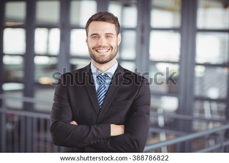 Stałego biznesmen uśmiech pracy ciało sukces Zdjęcia stock © Paha_L