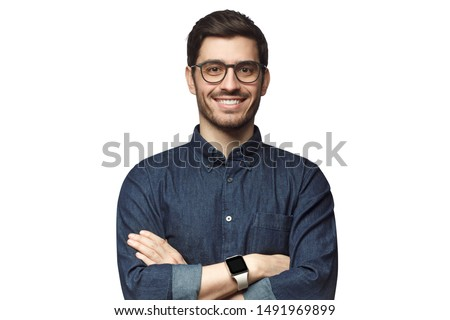 Handsome young man isolated on white background stock photo © Nejron