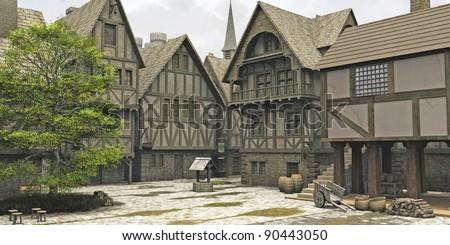 教会 センター 古い 村 オランダ語 町 ストックフォト © compuinfoto