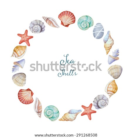 frame from marine cockleshells with the image of sea Stock photo © konturvid