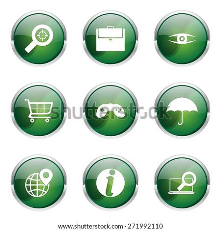 SEO Internet Sign Green Vector Button Icon Design Set 10 Stock photo © rizwanali3d