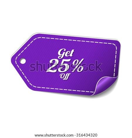 25 procent violet vector icon ontwerp Stockfoto © rizwanali3d