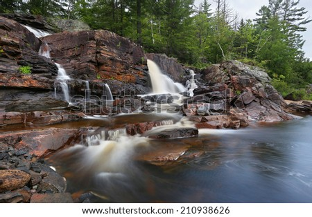 muskoka waterfall stock photo © brianguest