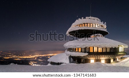 view from mountain Sniezka in winter Stock photo © LianeM