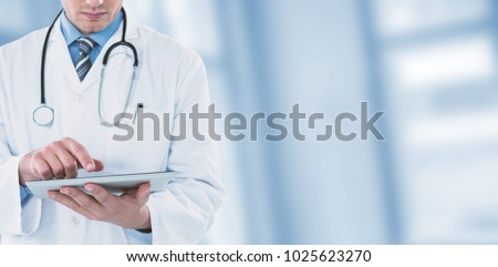 Man pretending to be using futuristic digital tablet Stock photo © wavebreak_media