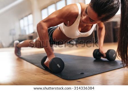 Stockfoto: Jonge · vrouw · mooie · gymnasium · vrouw