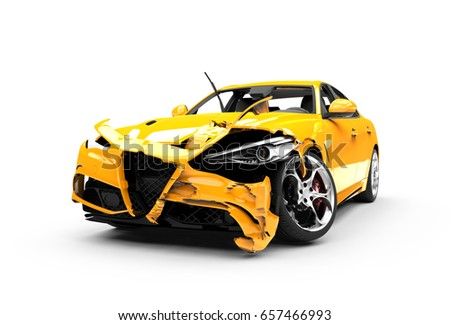Smashed cars Stock photo © colematt