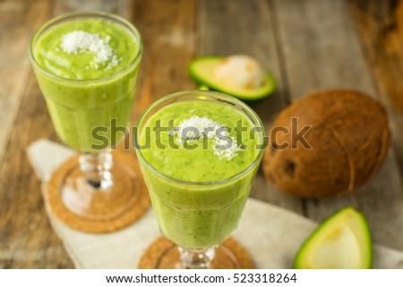 авокадо кокосовое молоко льстец стекла лист лет Сток-фото © Alex9500