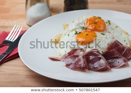 Serrano ham eieren keuken Stockfoto © nito