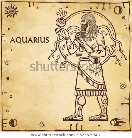 horoszkóp · állatöv · felirat · feliratok · körkörös · víz - stock fotó © cidepix