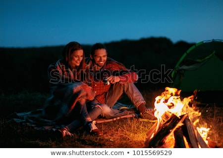 Romantic Weekend in Mountains, Couple Traveling Stock photo © robuart
