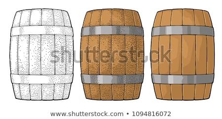 Permanente vintage houten vat kleur Stockfoto © pikepicture