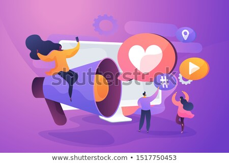 SMM management, notification flat vector illustration Stock photo © RAStudio