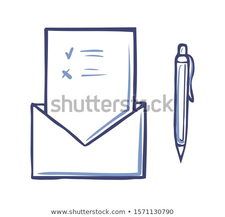 Envelope with opened Voting Page Marks For Against Stock photo © robuart