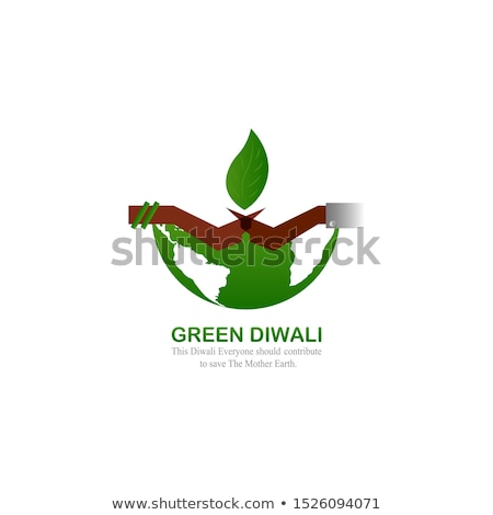 eco green diwali festival diya concept design background stock photo © sarts