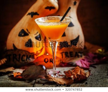 Halloweens drink pumpkin martini cocktail Stock photo © furmanphoto